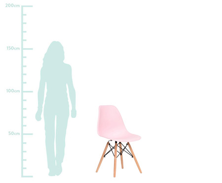 Jogo de Cadeira Eames - Rosa Talcado   WestwingNow