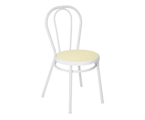 Cadeira Vienna - Branco e Natural, Branco | WestwingNow