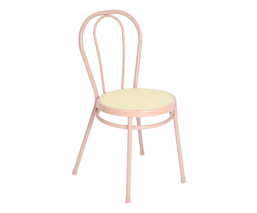 Cadeira Vienna - Rosa e Natural, Rosa | WestwingNow
