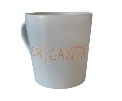 Caneca em Porcelana Encantar - Cinza, Cinza   WestwingNow