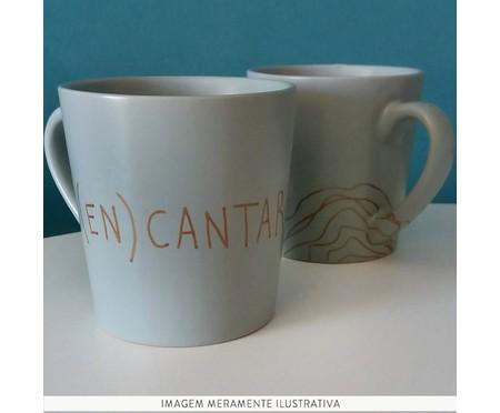 Caneca em Porcelana Encantar - Cinza   WestwingNow
