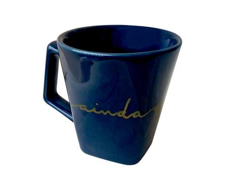 Caneca em Porcelana Sempre - Azul   WestwingNow