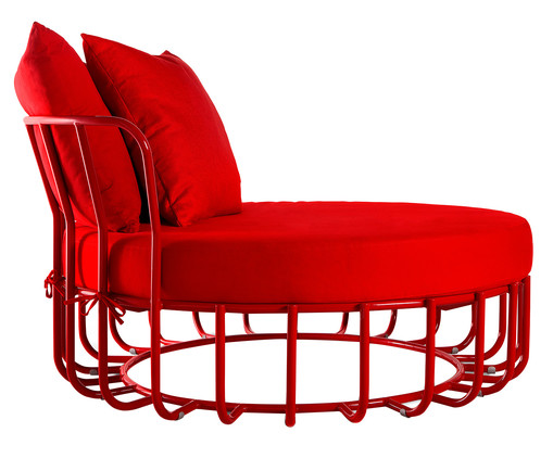 Day Bed Cesta - Vermelho, Natural | WestwingNow