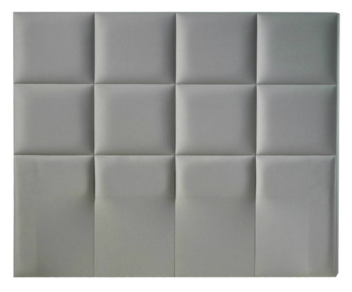 Cabeceira Painel Estofada Milão - Cinza Platina, Branco, Colorido | WestwingNow
