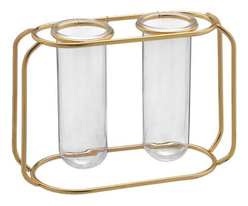 Vaso em Vidro Rabaiolli - Dourado, Dourado   WestwingNow