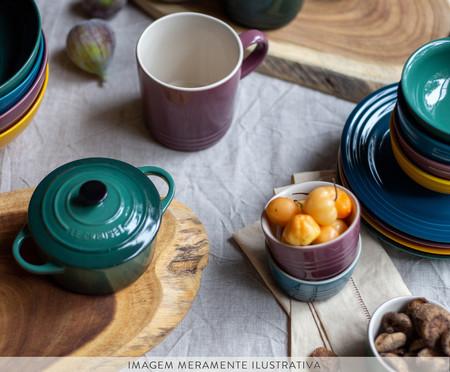 Jogo de Pratos para Aperitivo em Cerâmica - Botanique   WestwingNow
