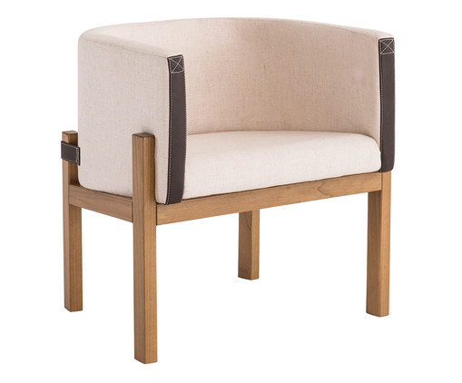 Poltrona Liame Wood - Off White, Bege, Natural | WestwingNow