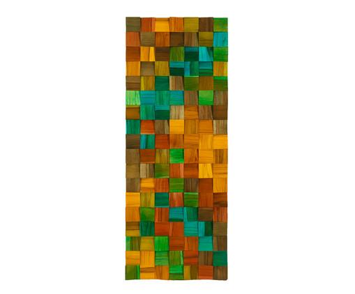 Quadro de Madeira 3D Ashtar - 35X90cm, Multicolorido | WestwingNow