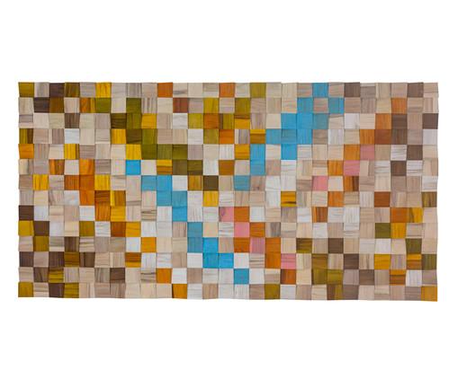 Quadro de Madeira 3D Kordelle - 135X70cm, Multicolorido | WestwingNow