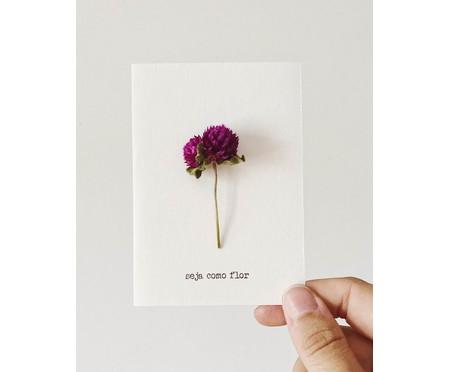 Cartão Seja Como Flor Perpétua - Roxa | WestwingNow