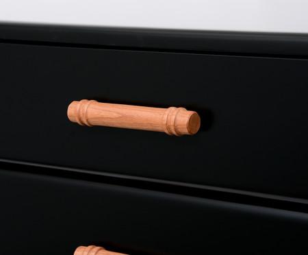 Cômoda Poti  Preta - 04 gavetas | WestwingNow