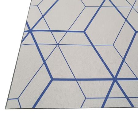 Tapete Passadeira Geométrico Elena - Branco e Azul | WestwingNow