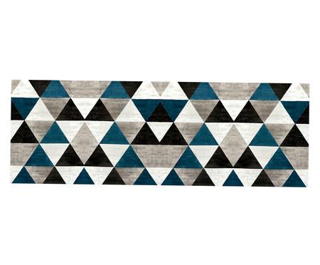 Tapete Passadeira Emborrachada Geométrico Caw  - Preto e Cinza | WestwingNow