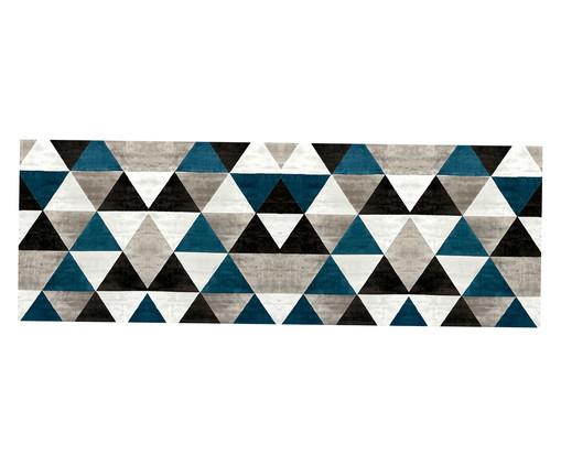 Tapete Passadeira Geométrico PVC Caw - Colorido, Preto, Cinza | WestwingNow
