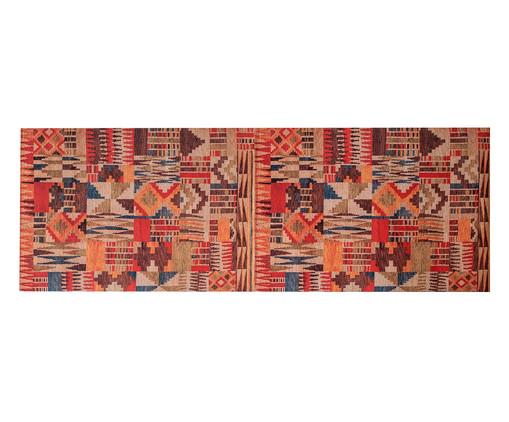 Passadeira PVC Tribal, Marrom, Laranja, Azul, Colorido | WestwingNow