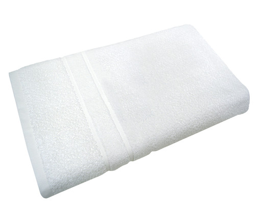 Toalha de rosto Soft Branc 100% Algodão 370 g/m² - Branca, Branco | WestwingNow