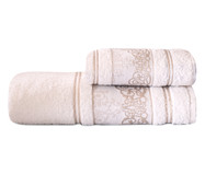 Jogo de Toalhas Essenza Off White 02 Peças - 360 g/m² | WestwingNow