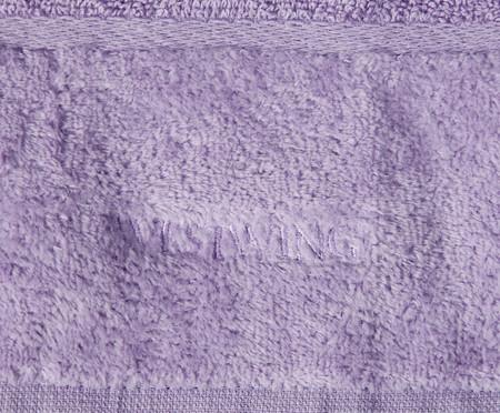 Jogo de Toalhas para Lavabo Duo Bord - Off White e Lavanda | WestwingNow