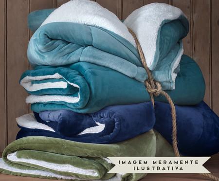 Coberdrom Flannel Sherpa Indigo - 130 g/m² | WestwingNow