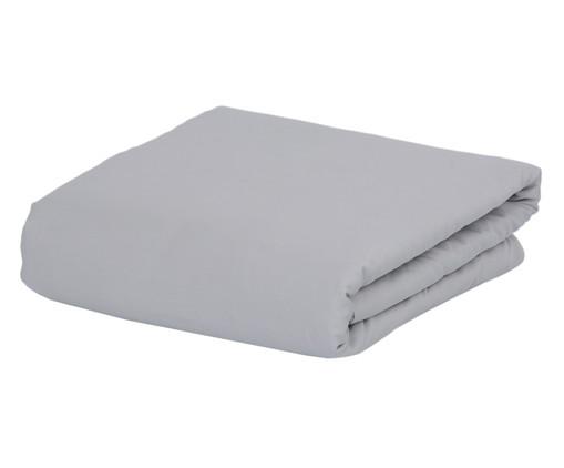 Lençol Inferior com Elástico Naturalle Cinza - 300 Fios, Branco | WestwingNow