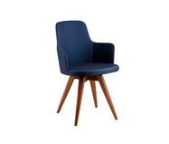 Cadeira Veracita Giratória - Azul Escuro e Amendoa   WestwingNow