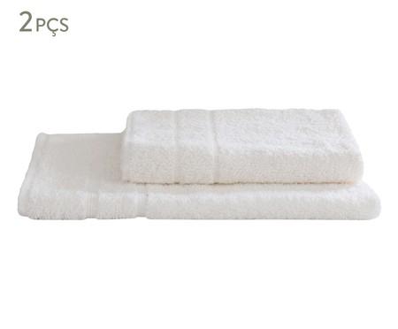Jogo de Toalhas de Pisos Contemporâneo Branco - 480 g/m² | WestwingNow