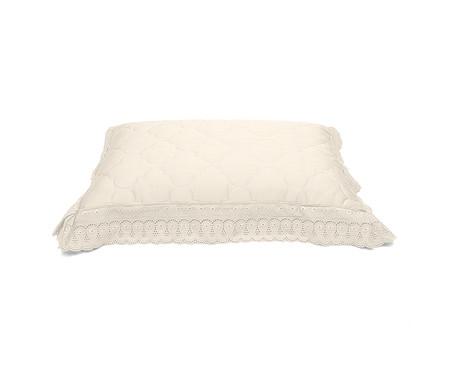 Porta Travesseiro Cristal Renascença Pérola - 300 Fios | WestwingNow