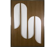 Quadro com Vidro Deco Off White - 104x144cm | WestwingNow