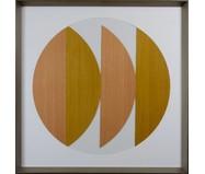 Quadro com Vidro Hexa Wood - 84x84cm | WestwingNow