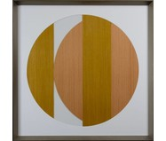 Quadro com Vidro Hexa Wood II - 84x84cm | WestwingNow