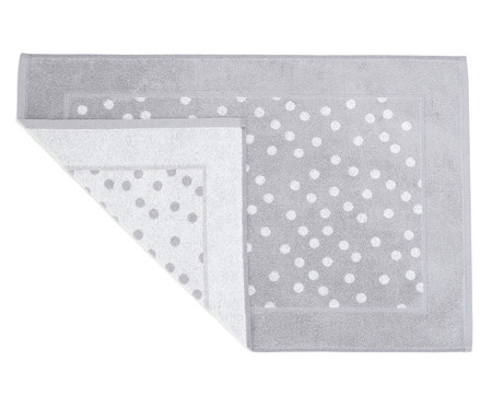 Tapete de Banheiro em Fio Tinto Polka Dot | WestwingNow