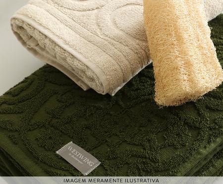 Jogo de Toalhas Jacquard Persa - Verde | WestwingNow