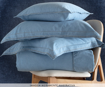 Jogo de Cobre-Leito Summer Jeans - Azul | WestwingNow