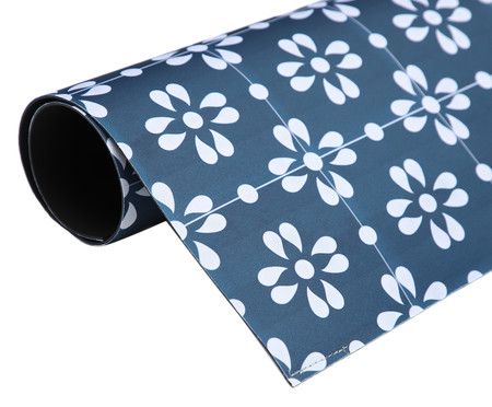 Tapete Pequeno Vinílico Pomar - Azul | WestwingNow