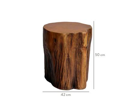 Banco Tronco de Árvore em Resina - Marrom | WestwingNow