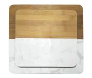 Jogo de Tábua para Servir Loy - Branco e Natural | WestwingNow