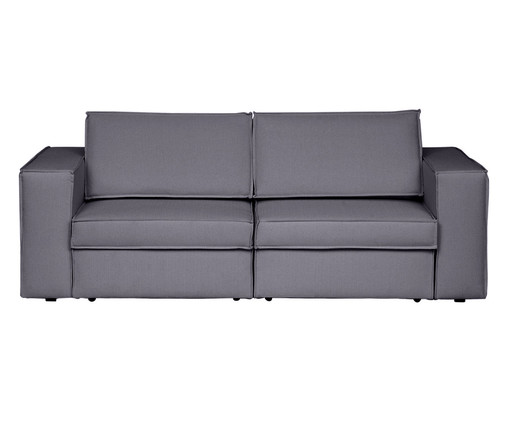 Sofá Modular Retrátil Mama - Cinza Cimento, Cinza Cimento | WestwingNow