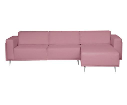 Sofá com Chaise Esquerda Antonio - Rosa Vintage, Rosa | WestwingNow