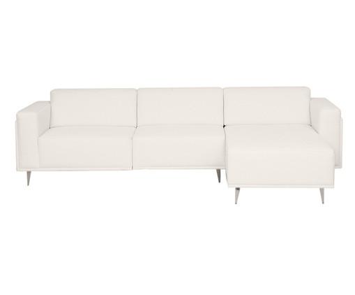 Sofá com Chaise Esquerda Antonio - Branco, Bege, Colorido | WestwingNow