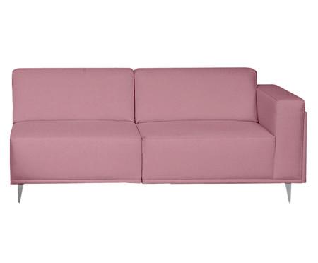 Sofá com Chaise Direita Antonio - Rosa Vintage | WestwingNow