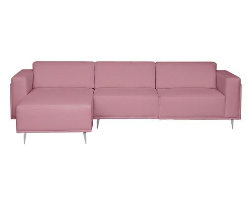 Sofá com Chaise Direita Antonio - Rosa Vintage, Rosa | WestwingNow