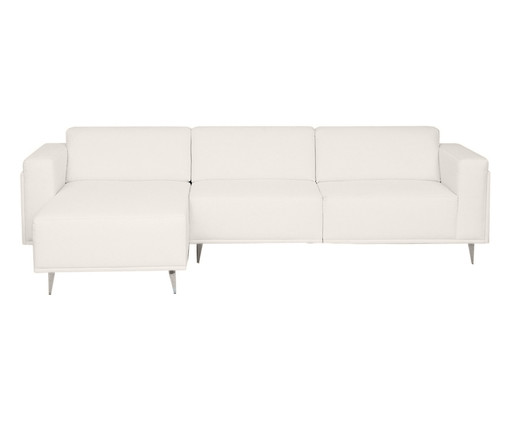 Sofá com Chaise Direita Antonio - Branco, Bege, Colorido | WestwingNow