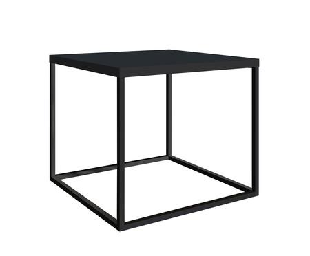 Mesa Quadrada Cube Lateral - Preto | WestwingNow