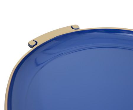 Bandeja Rennes Azul e Dourado - 59X38cm | WestwingNow