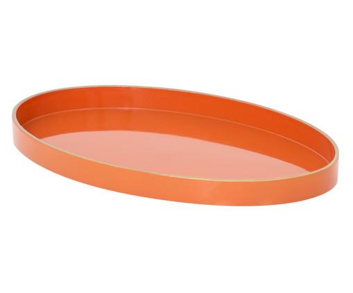 Bandeja Marne Laranja e Dourado - 28X17,5cm, Laranja, Dourado | WestwingNow
