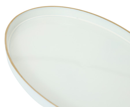 Bandeja Marne Branco e Dourado - 28X17,5cm | WestwingNow