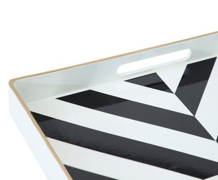 Bandeja Estampada Linas Preto e Branco - 35X35cm | WestwingNow