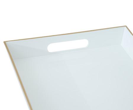 Bandeja Angers Branco e Dourado - 29X22cm | WestwingNow