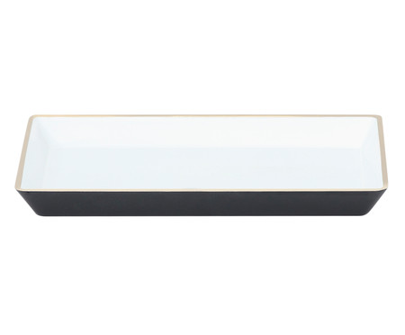 Bandeja Petit Branco e Dourado - 20,5X14,5cm | WestwingNow