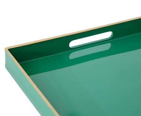Bandeja Vannes Verde e Dourado - 48X35cm | WestwingNow